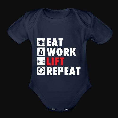 Gym Rat Life Style - Organic Short Sleeve Baby Bodysuit