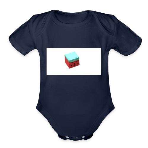 cubeboy - Organic Short Sleeve Baby Bodysuit