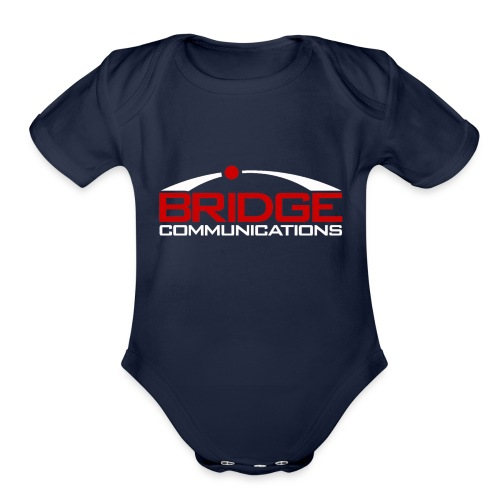 Bridge Communications Dark Logo - Organic Short Sleeve Baby Bodysuit
