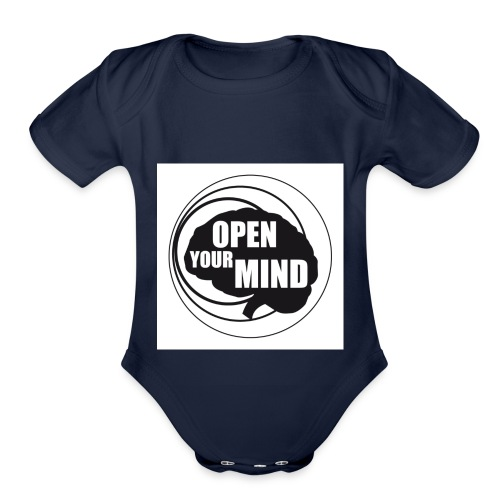 open your mind - Organic Short Sleeve Baby Bodysuit