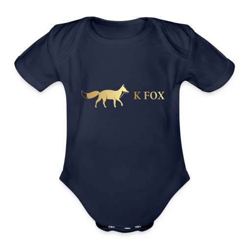 K Fox Black Gold - Organic Short Sleeve Baby Bodysuit
