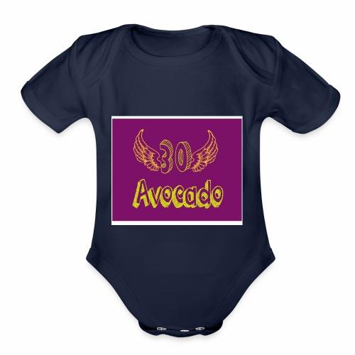 Thirdy Avocado logo - Organic Short Sleeve Baby Bodysuit