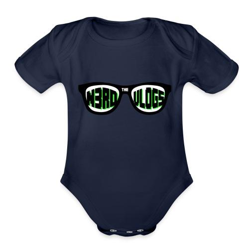 The_Nerd_Vlogs_-_logo - Organic Short Sleeve Baby Bodysuit