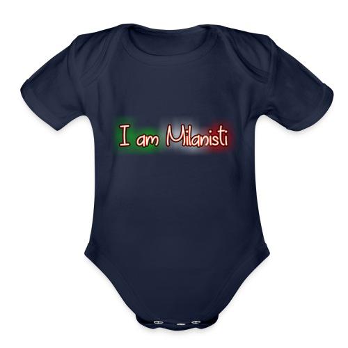 I am Milanisti - Organic Short Sleeve Baby Bodysuit
