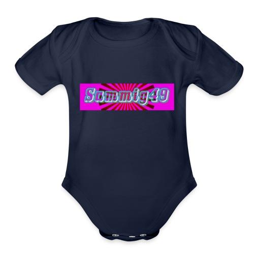 sammig49 glow - Organic Short Sleeve Baby Bodysuit