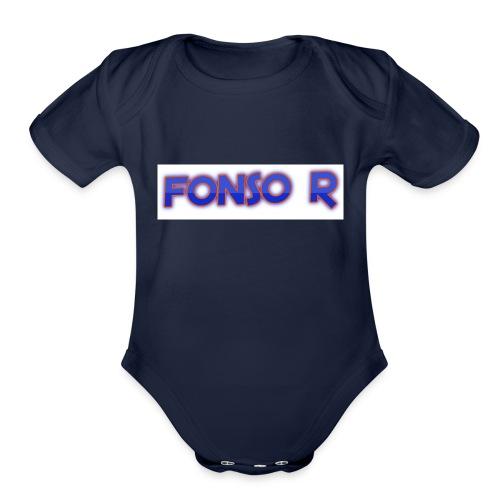 Fonso r merch store - Organic Short Sleeve Baby Bodysuit