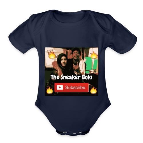 THE SNEAKER BOKI DURK FIRE - Organic Short Sleeve Baby Bodysuit