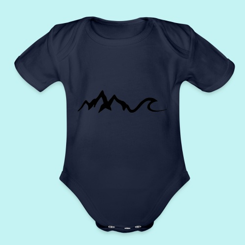 Mount Wave - Organic Short Sleeve Baby Bodysuit
