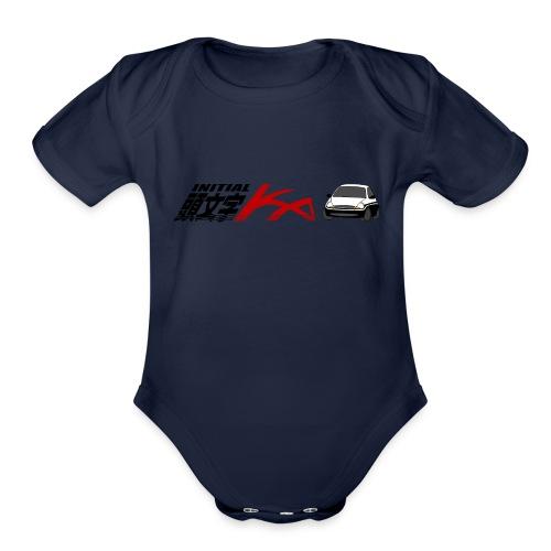 Initial Ka (Black writing) - Initial D parody - Organic Short Sleeve Baby Bodysuit