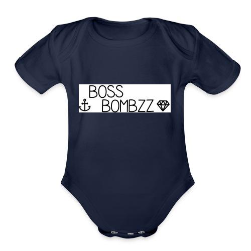 Bombzz - Organic Short Sleeve Baby Bodysuit