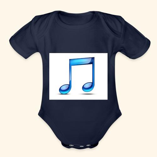 music note icon - Organic Short Sleeve Baby Bodysuit
