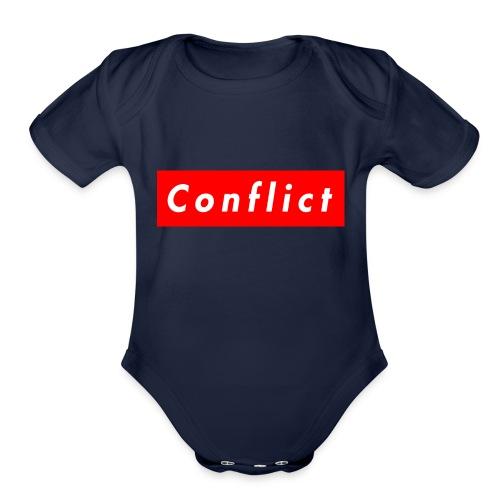 conflict bogo - Organic Short Sleeve Baby Bodysuit