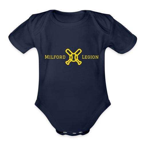 Milford Legion 2017 Logo - Organic Short Sleeve Baby Bodysuit