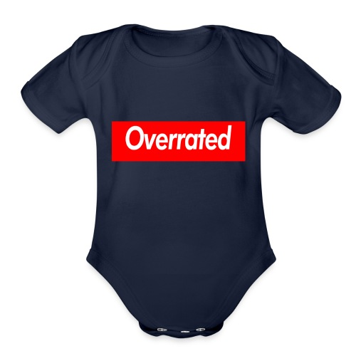 overrated - Organic Short Sleeve Baby Bodysuit