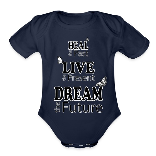 Heal the Past - Organic Short Sleeve Baby Bodysuit