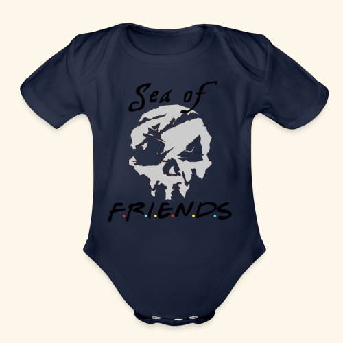 Sea of Friends - Organic Short Sleeve Baby Bodysuit