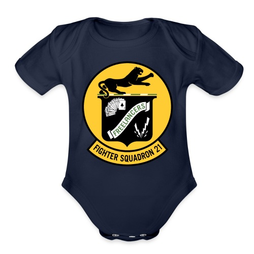 Fighter Squadron Twenty One VF-21 - Organic Short Sleeve Baby Bodysuit