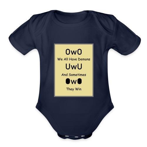 We All Have Demons - Organic Short Sleeve Baby Bodysuit