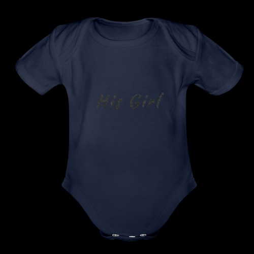 His Girl - Organic Short Sleeve Baby Bodysuit