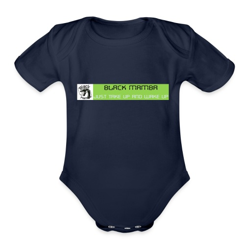 BLACK MAMBA - Organic Short Sleeve Baby Bodysuit