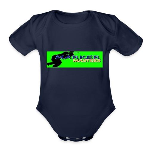 Marker Masters (Green) - Organic Short Sleeve Baby Bodysuit