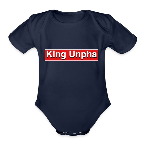 This is the king unpha merch - Organic Short Sleeve Baby Bodysuit