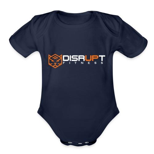 disrupt logo - Organic Short Sleeve Baby Bodysuit