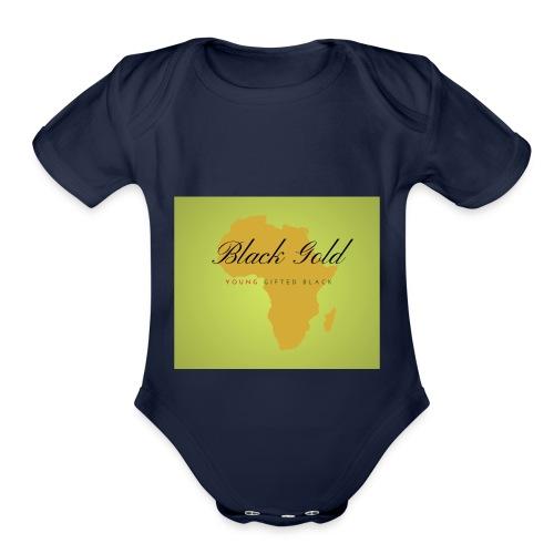 black gold - Organic Short Sleeve Baby Bodysuit
