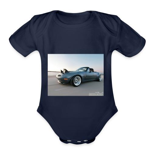 modp 1204 06 1990 mazda mx5 miata full view - Organic Short Sleeve Baby Bodysuit