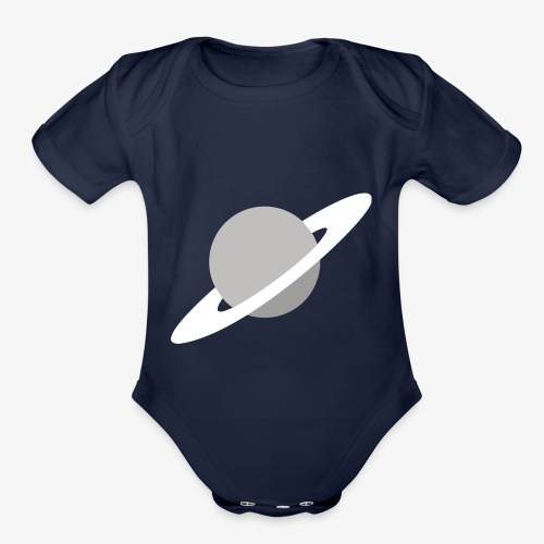 Saturn Out Color - Organic Short Sleeve Baby Bodysuit