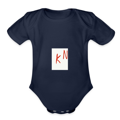GET SOME MY MRECH IS OS HOT BABE - Organic Short Sleeve Baby Bodysuit