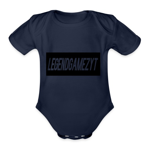 LegendGamezYT Text Logo - Organic Short Sleeve Baby Bodysuit
