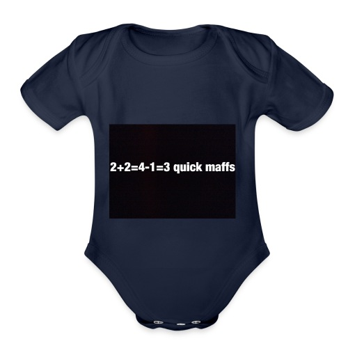 quick maffs - Organic Short Sleeve Baby Bodysuit