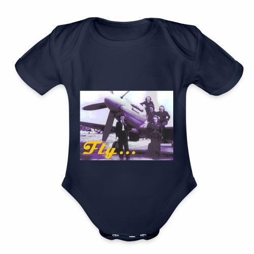 Fly Girls - Organic Short Sleeve Baby Bodysuit