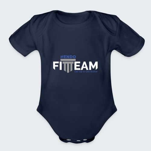 Signature HFT Stamp/White - Organic Short Sleeve Baby Bodysuit