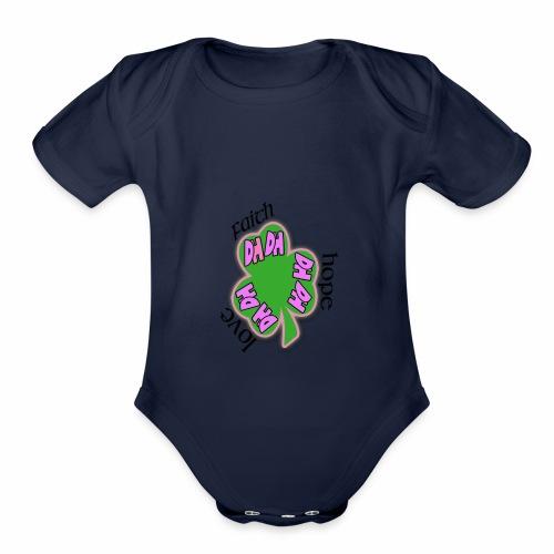 FAITH SHAMROCK - Organic Short Sleeve Baby Bodysuit
