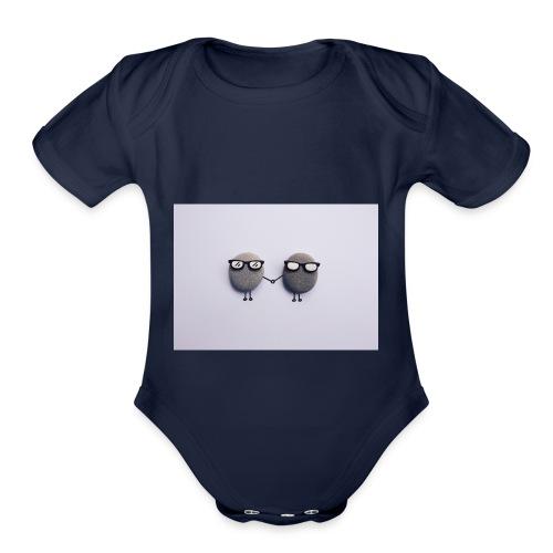 royaltyfree - Organic Short Sleeve Baby Bodysuit