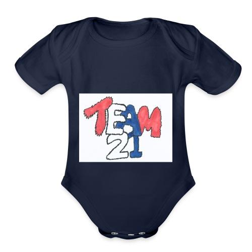 team 21 the best - Organic Short Sleeve Baby Bodysuit