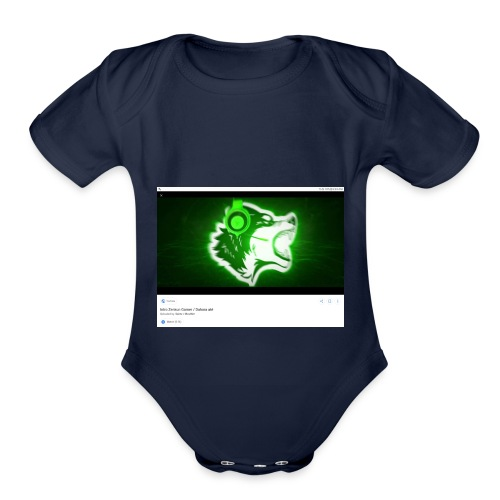 Wolf gamer - Organic Short Sleeve Baby Bodysuit