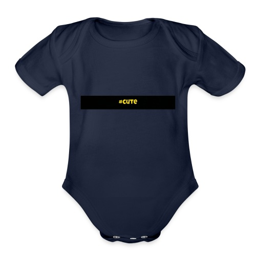 Cute - Organic Short Sleeve Baby Bodysuit