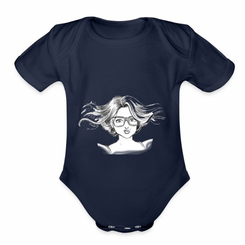 chica linda - Organic Short Sleeve Baby Bodysuit