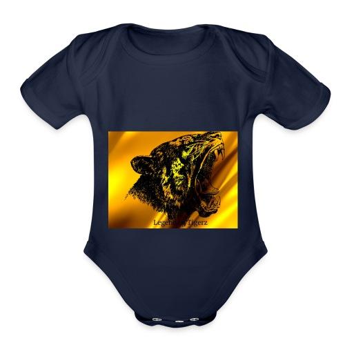 GoldenTigerz - Organic Short Sleeve Baby Bodysuit