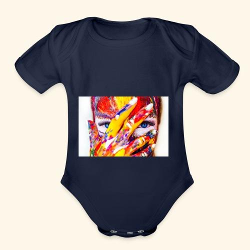 color - Organic Short Sleeve Baby Bodysuit