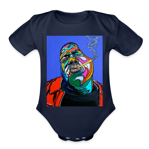 Notorious-B-I-G set 1 - Organic Short Sleeve Baby Bodysuit