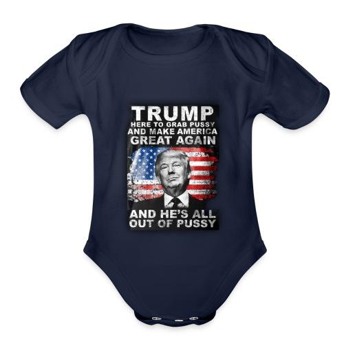 Trump is Here! - Organic Short Sleeve Baby Bodysuit
