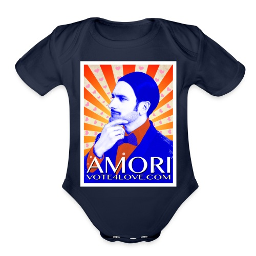 Amori_poster_1d - Organic Short Sleeve Baby Bodysuit