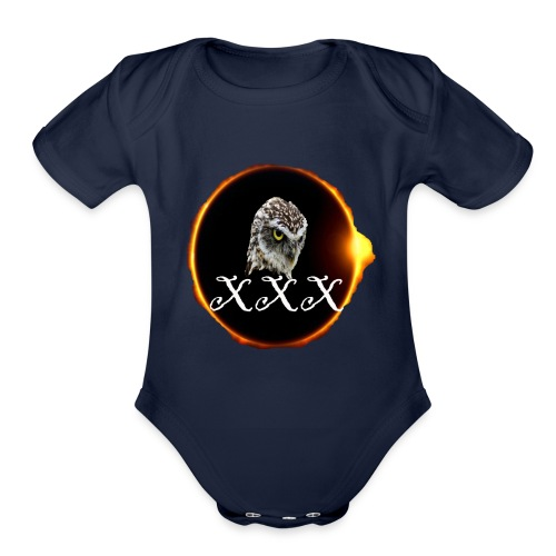 XXX animal cute blacke men women t-shirt - Organic Short Sleeve Baby Bodysuit