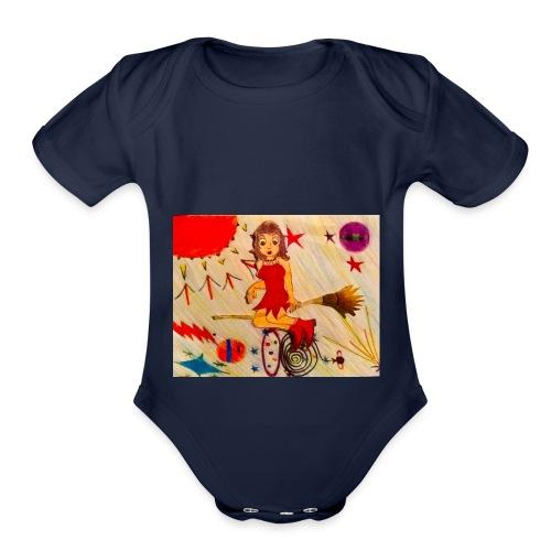 Psychobiology Bruja - Organic Short Sleeve Baby Bodysuit