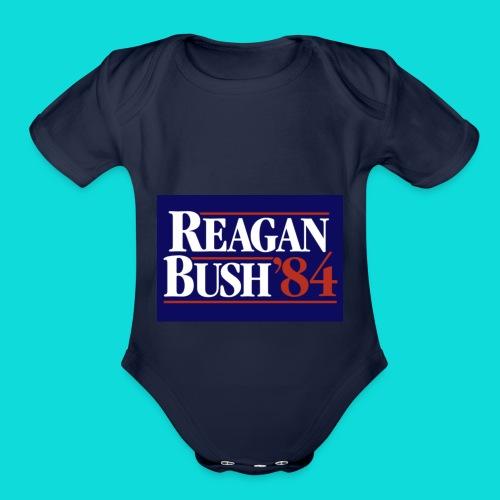 Reagan Bush - Organic Short Sleeve Baby Bodysuit