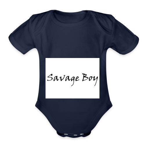 Savage Boy - Organic Short Sleeve Baby Bodysuit